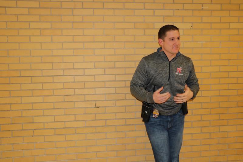 Officer Lillie roams school halls.