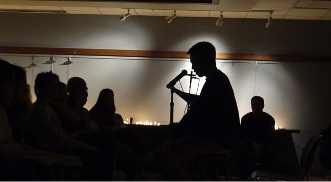 Little+Light%2C+a+Chicago-based+duo%2C+performed+for+audience+members+during+the+storytelling+event+on+Feb.+18.+