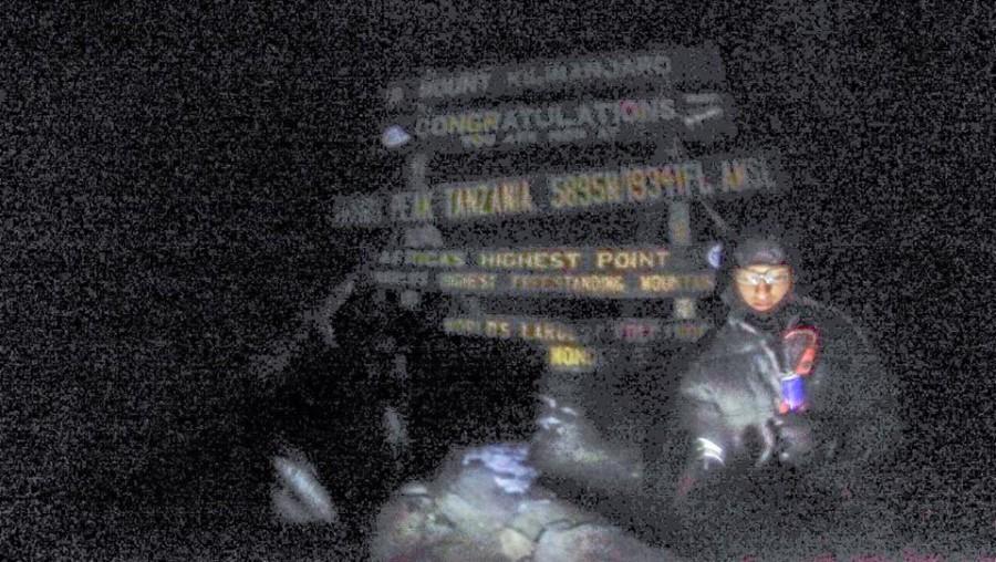 Senior Suraj Khatau climbed Mt. Kilimanjaro, the highest mountain in Africa in February.