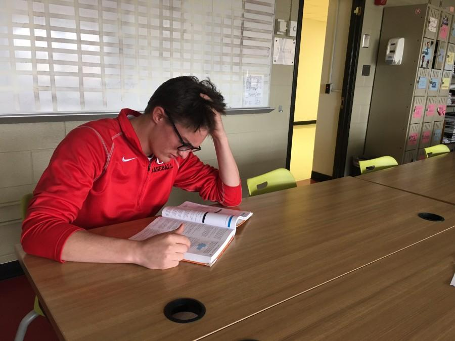 Senior Alex Herbst shares in many athletes' frustration over the new study hall restrictions.