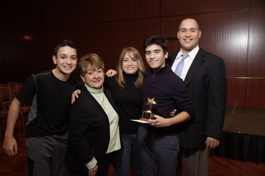 Carlo Zenner, senior, is the winner of the Midwest Regional Shakespeare Competition.