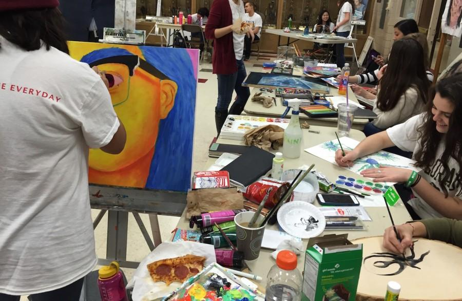 AP+Studio+Art+students+demonstrated+their+talents+on+the+Live+Day+of+Art+on+Thursday%2C+March+3.+