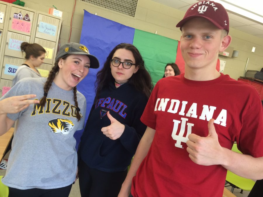 Story writer, Caroline Kealy, is attending Mizzou, while Advocate writers, Mackenzie Murtaugh and Michael Claussen, have chosen Depaul and Indiana.