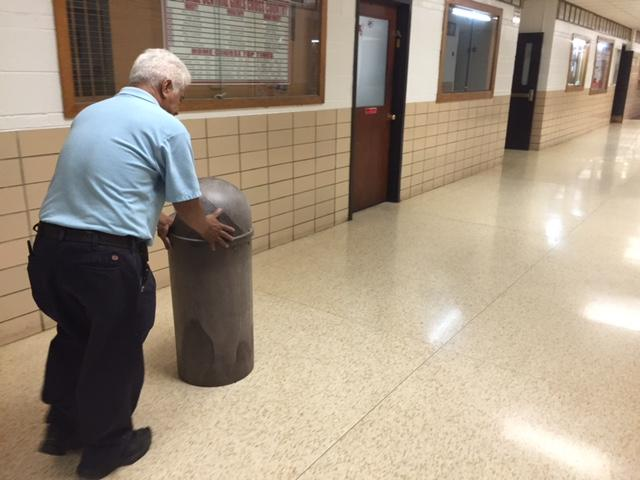 Abelino Escobedo ensures all garbage containers never overfill; he is one of the many custodians that make Central a sanitary and welcoming place.