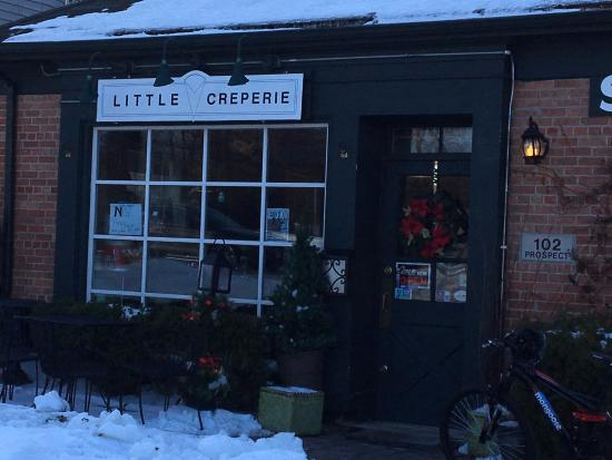 Breakfast restaurant, the Little Creperie is located on Prospect Ave. in Clarendon Hills.
