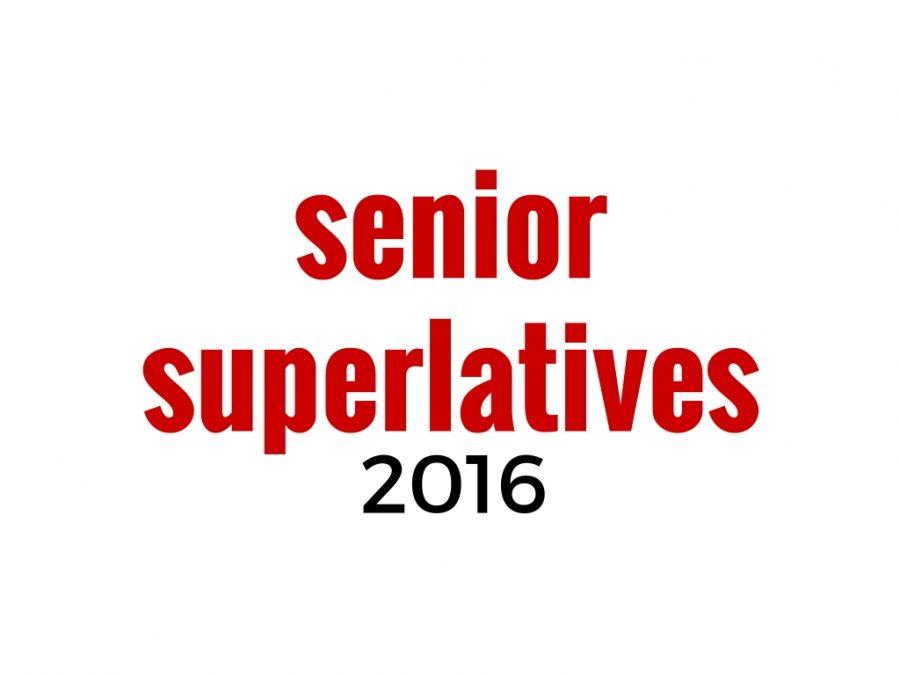 2016 Senior Superlative Nominations