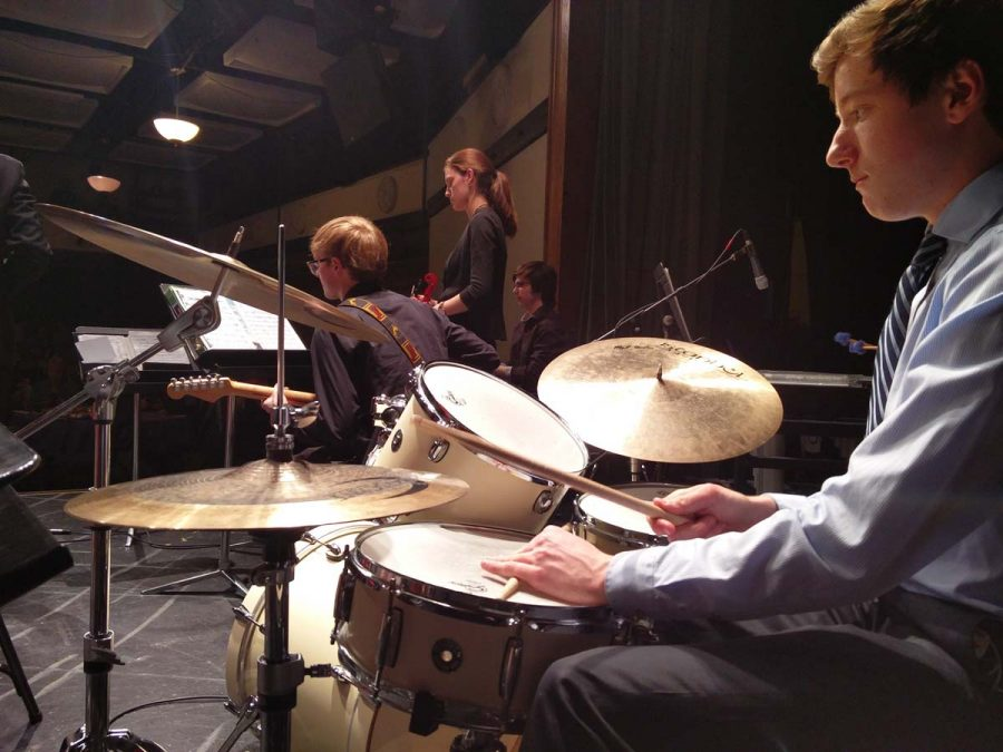 Central Jazz Combo D Major and the Minors preforms at the Community House.
