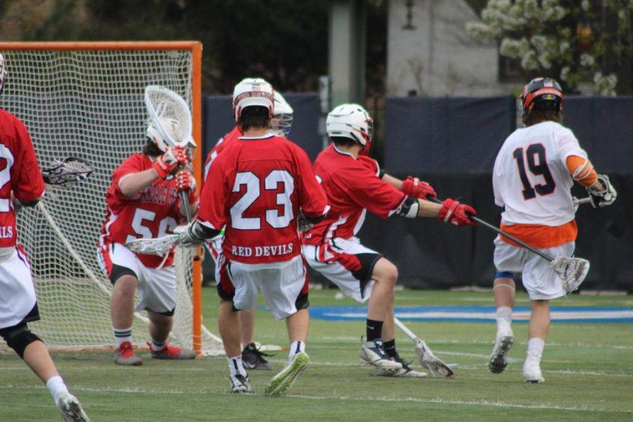 The lacrosse team will face rival LT on May 7 at Dickinson Field.