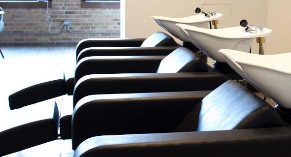 Customers can enjoy massage chairs during their salon visit.