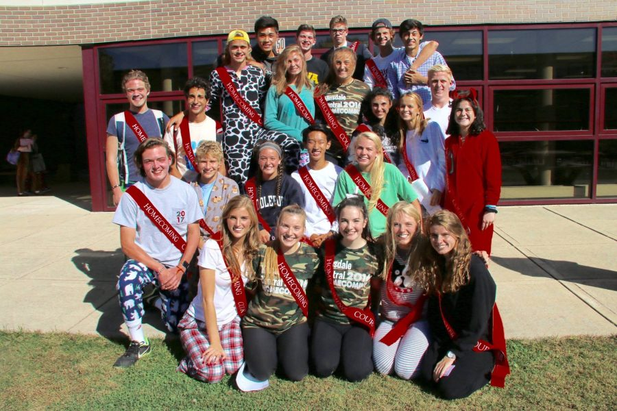 This year's homecoming court:  Top Row (left to right): Jeremy Yi, Marshall Dockery, Marshall Moller, David Schwab, Sebastian Chung Third Row: Jake Youngman, Charles Zayed, Wells Douraghy, Annie Tatooles, Abby Ward, Emily Otto, Maddie Becker, Will Bowater, Alison Albelda Second Row: Will Deangelis, Joseph Miscimarra, Lila Loughlin, Eric Chang, Karly Berger Bottom Row: Katie Broz, Karsen Kolnicki, Tricia Fishbein, Zoe Relias, Mary Kress.