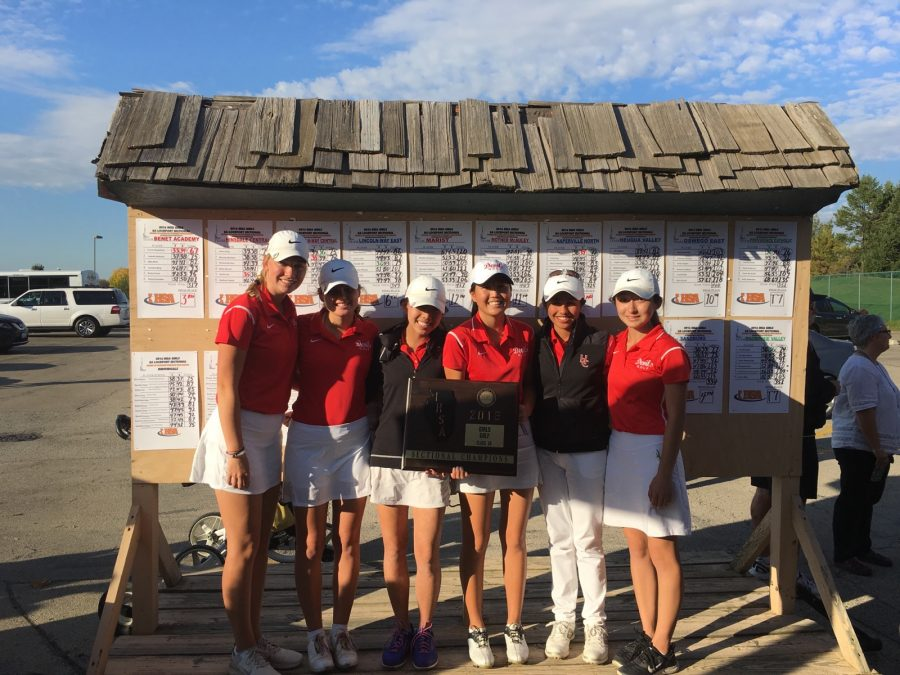 Girls golf won sectionals and came in third place at state.