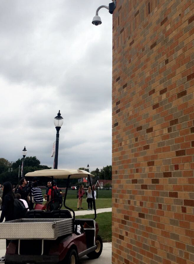 At all times cameras record activity around the school to ensure student and faculty safety.