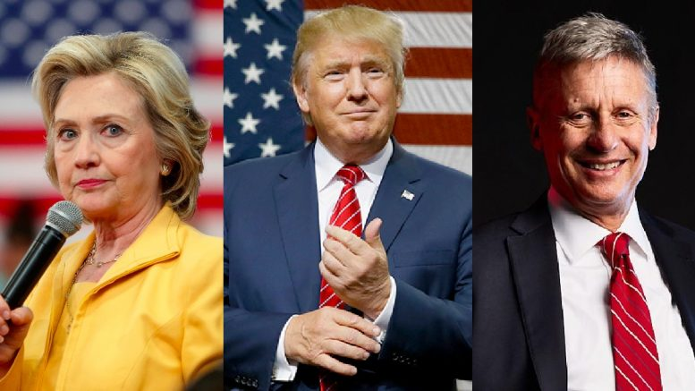 The+three+presidential+candidates%3A+Hillary+Clinton+%28left%29%2C+Donald+Trump+%28middle%29+and+Gary+Johnson+%28right%29.