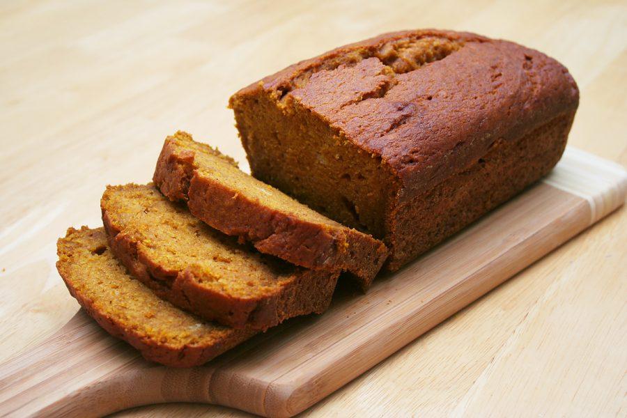 Vegan pumpkin bread.