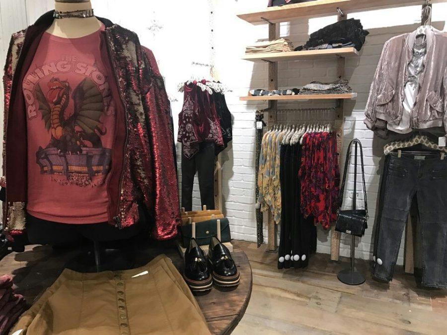 Inside the Free People store that recently opened at Oakbrook Mall.