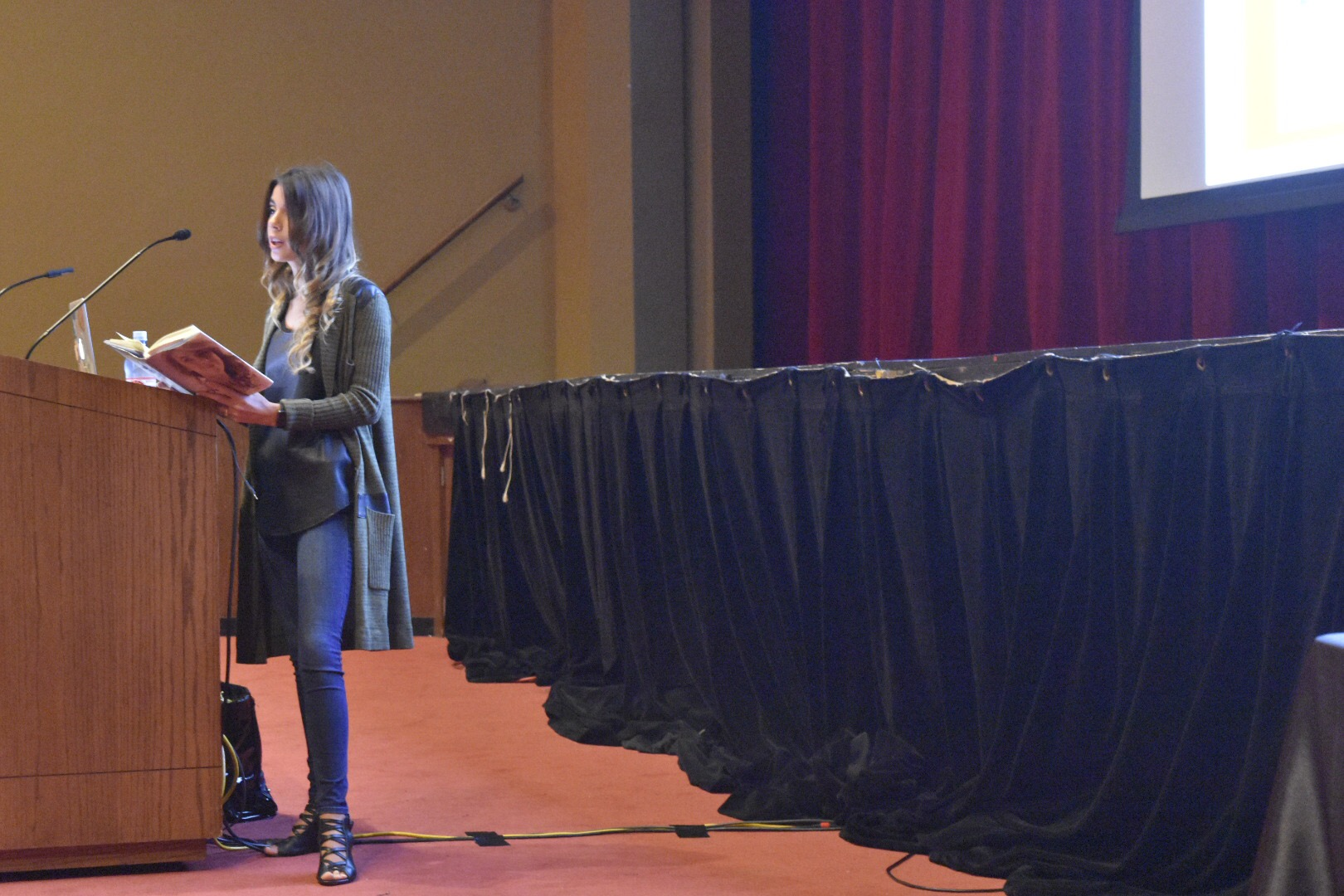 Paige Rawl speaks to students and staff about the background of HIV and bullying.