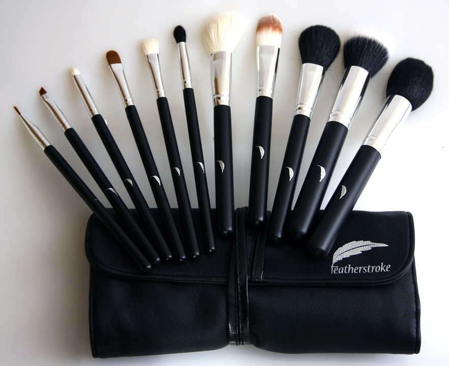 Beauty tools like brushes help with quick precision and blending.