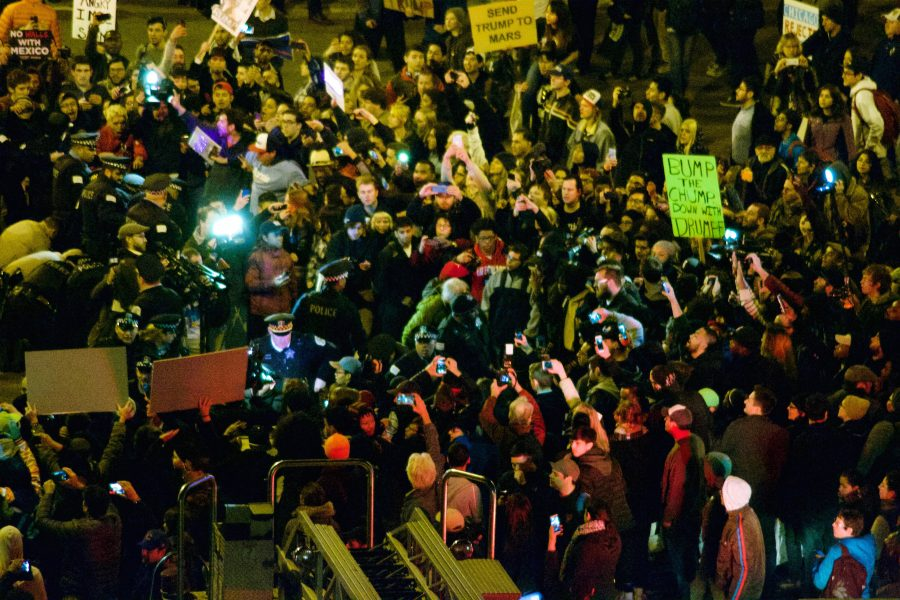 In the days following the election on Nov. 8, people gathered in cities around the country to protest Donald Trump's victory in ways similar to how they protested during his campaign, like at his rally in Chicago on March 11.