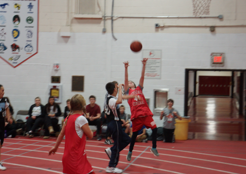 Hinsdale Central's Special Olympics Basketball Team takes on the Warriors in the Hinsdale Central Fieldhouse on Jan. 18.