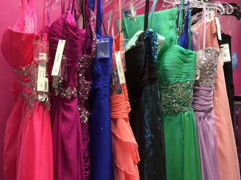 Senior girls are already on the search for a Prom dress even though it's on April 28.