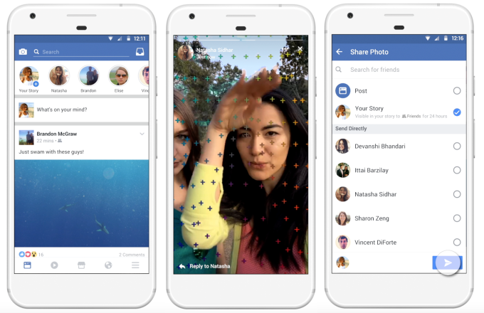 The new Facebook Stories feature allows sharing live moments quicker and easier.