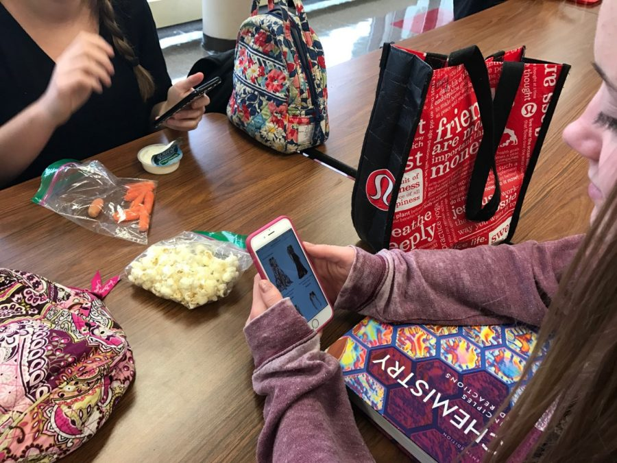 Senior girls are currently experiencing the frenzy that is prom dress shopping. While some seniors already have their dresses ready to go, most senior girls are still frantically searching for them even though prom is months away.