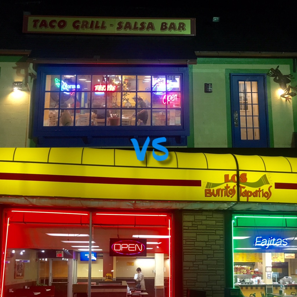 Students have two great choices between Taco Grill and Los Burritos Tapatios.