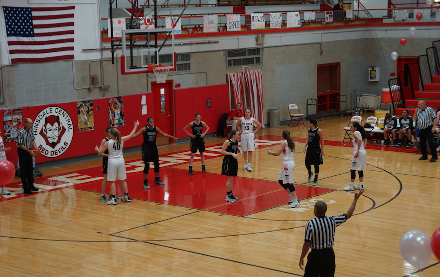 The Hinsdale Central Girls Basketball team faces off against Glenbard West for Senior Night on January 30