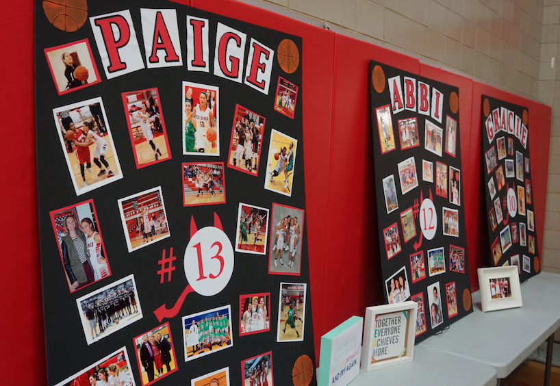 The Hinsdale Central Girls Basketball team faces off against Glenbard West for Senior Night on January 30.