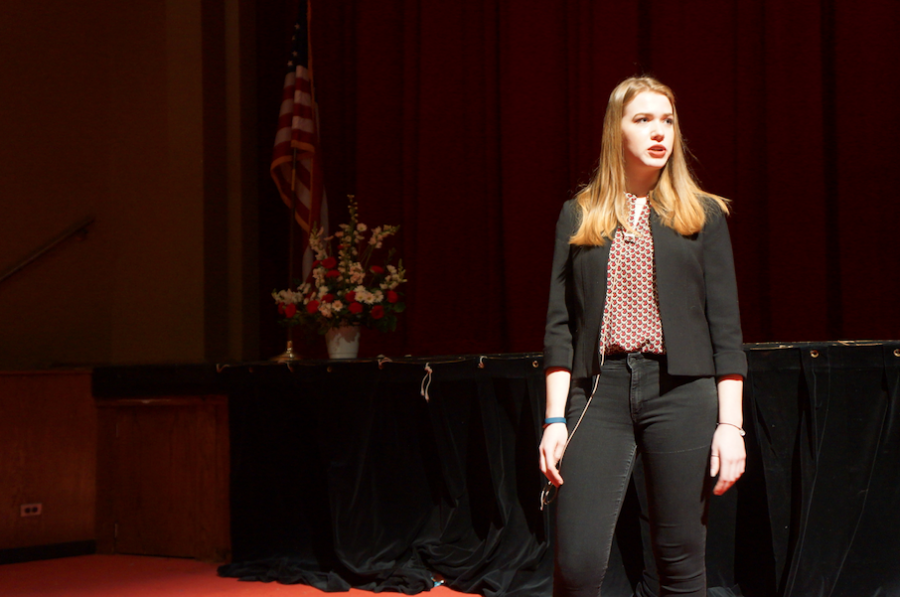 Members of the Hinsdale Central Forensics Team showcase their talent on February 10 before their Sectional Competition on February 11.