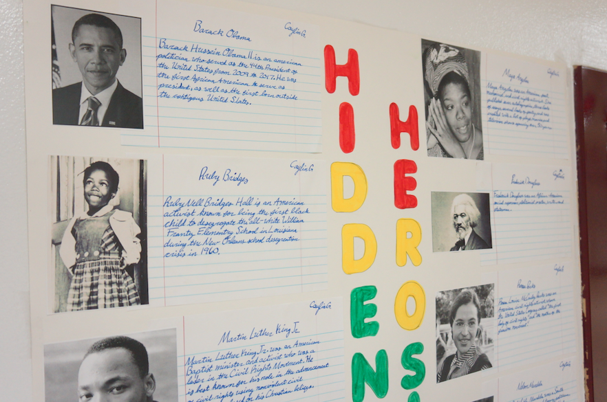 A Hidden Figures poster is displayed outside room 124C.