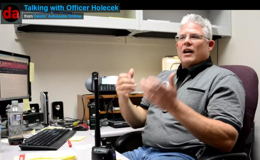 Officer Holecek joined the school's staff on Jan. 11.
