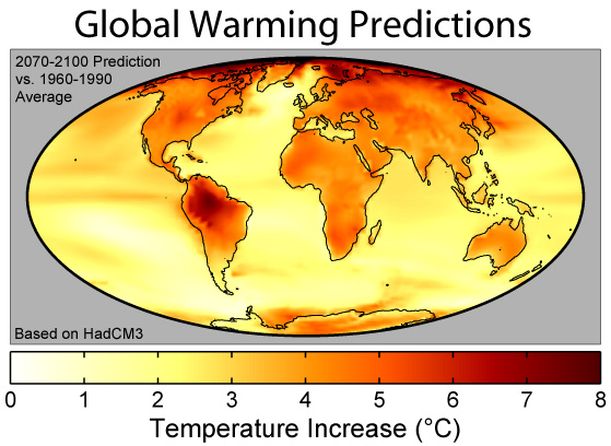 Temperatures are rising globally and by 2100 our earth will be significantly warmer, which is great news.