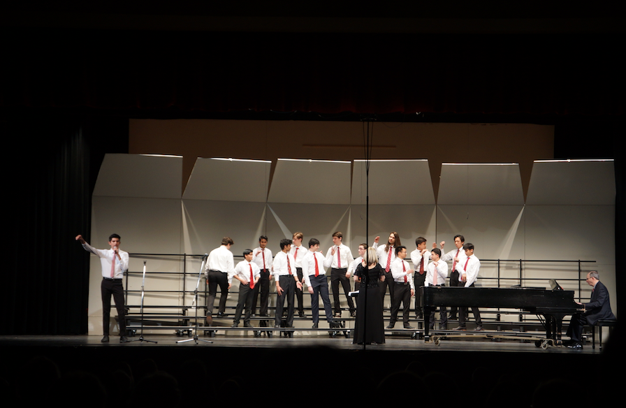 The+orchestra+and+the+choir+had+their+Spring+choral+concert+in+the+auditorium+on+Tuesday%2C+March+15.+