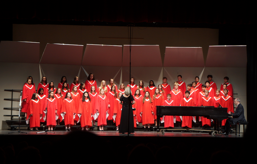 The orchestra and the choir had their Spring choral concert in the auditorium on Tuesday, March 15.