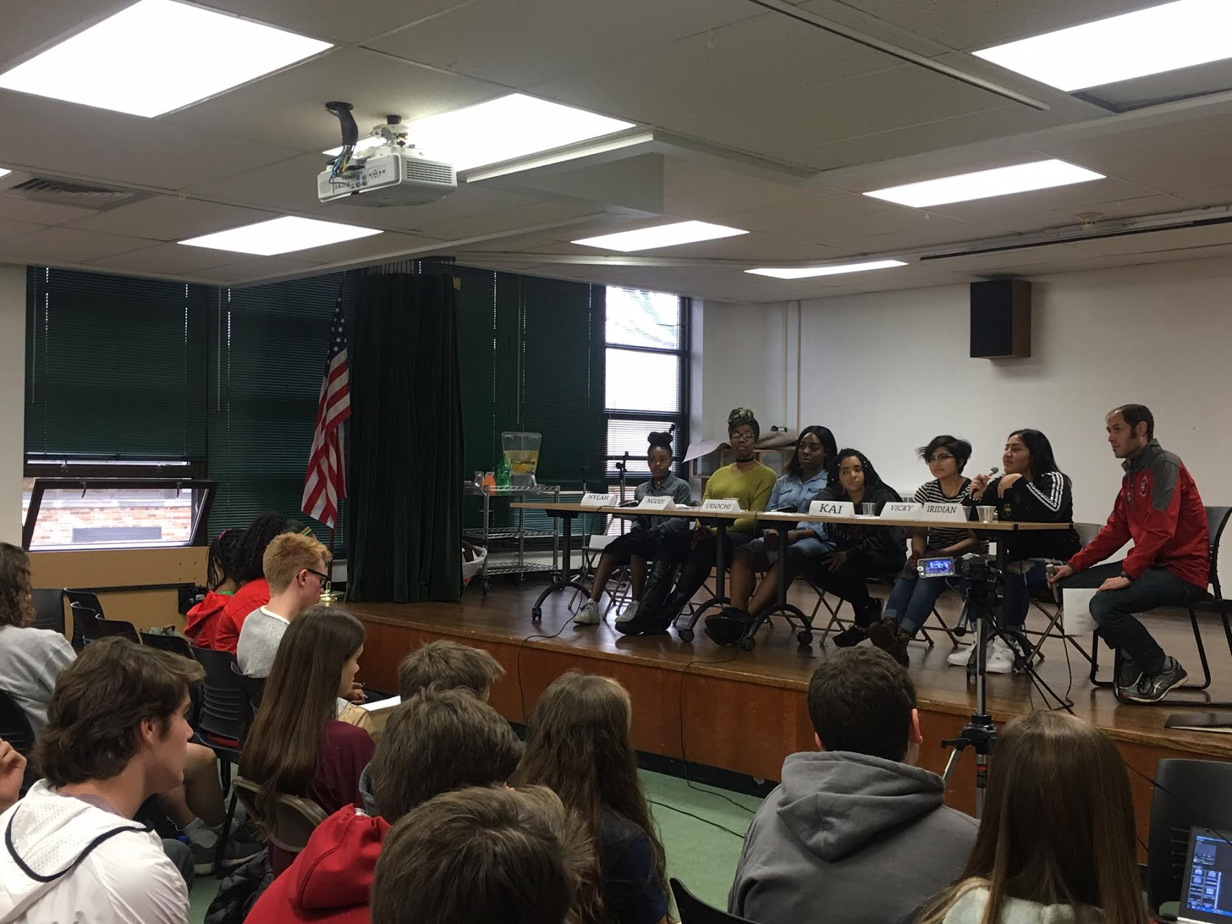Students from all classes were invited to a town hall style discussion about racism on Feb. 24 as a part of Black History Month.