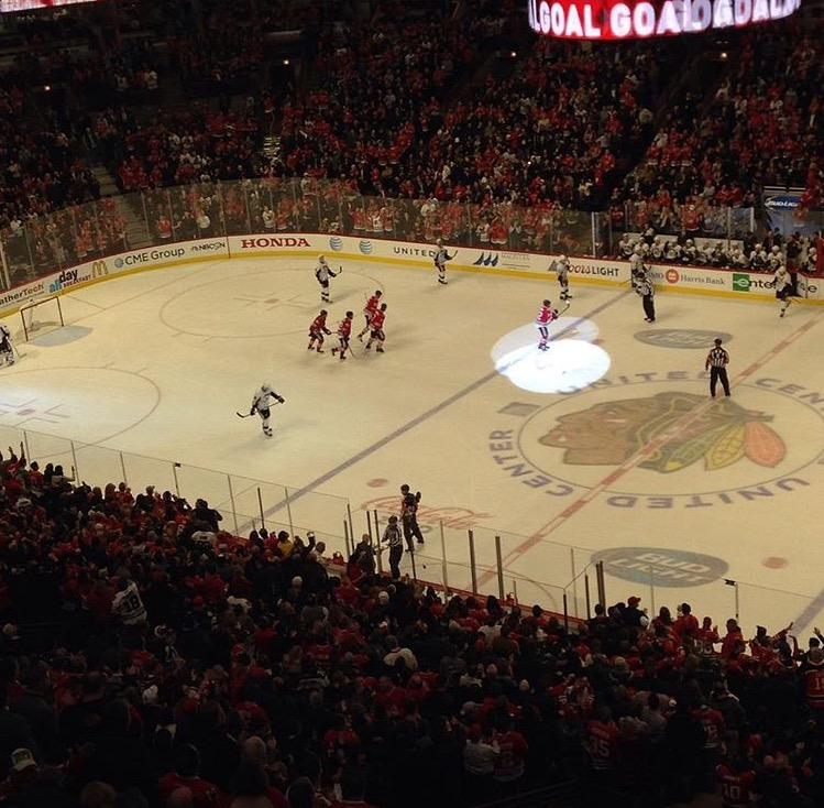 The+Blackhawks+in+the+midst+of+a+competitive+game.+Photo+courtesy+of+Evan+Ostrowski