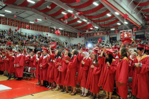 Before graduation on May 25, some seniors chose to leave behind a few parting words.