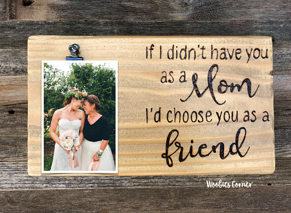 Choose from multiple picture frames that show love to mom while protecting a precious picture of both of you.