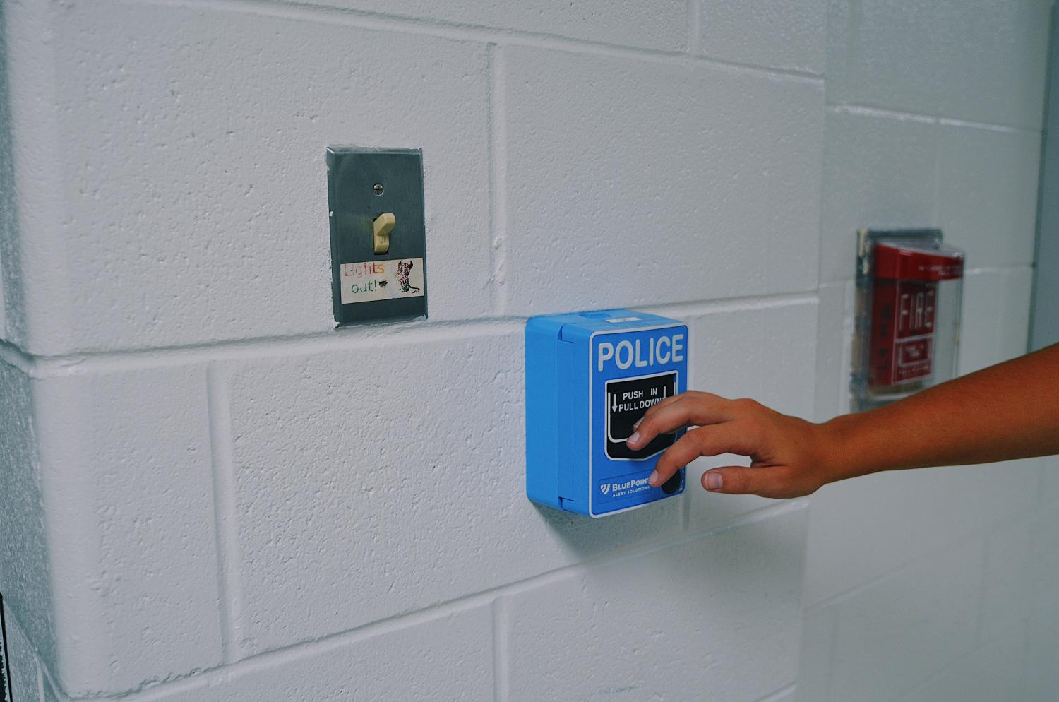 Students are now able to easily pull a lever for the police to arrive at school.