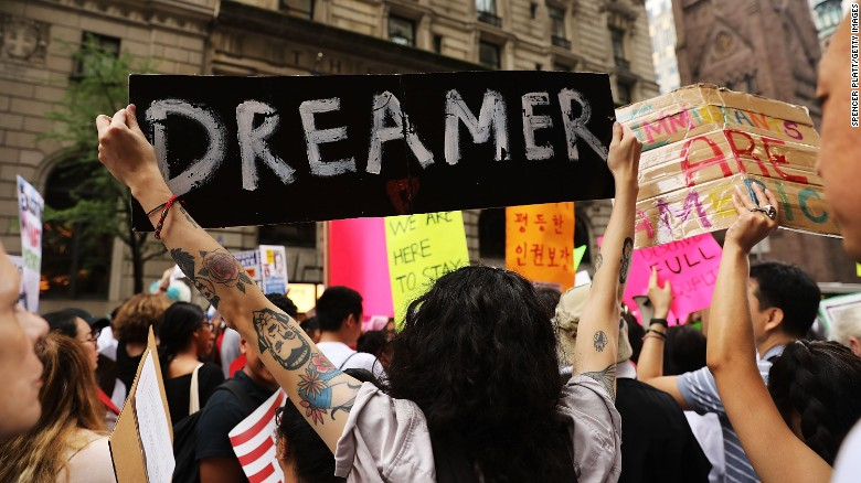 Protestors+fight+against+the+end+of+DACA+by+voicing+their+opinions+in+New+York+City.