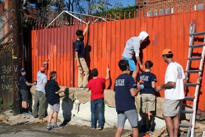 Loyola High School students participated in a day of service, similar to the one Central has planned for Sept. 30.