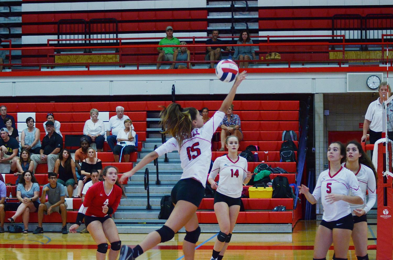 The girls volleyball teams played their first home game Tuesday night, Sept. 26.