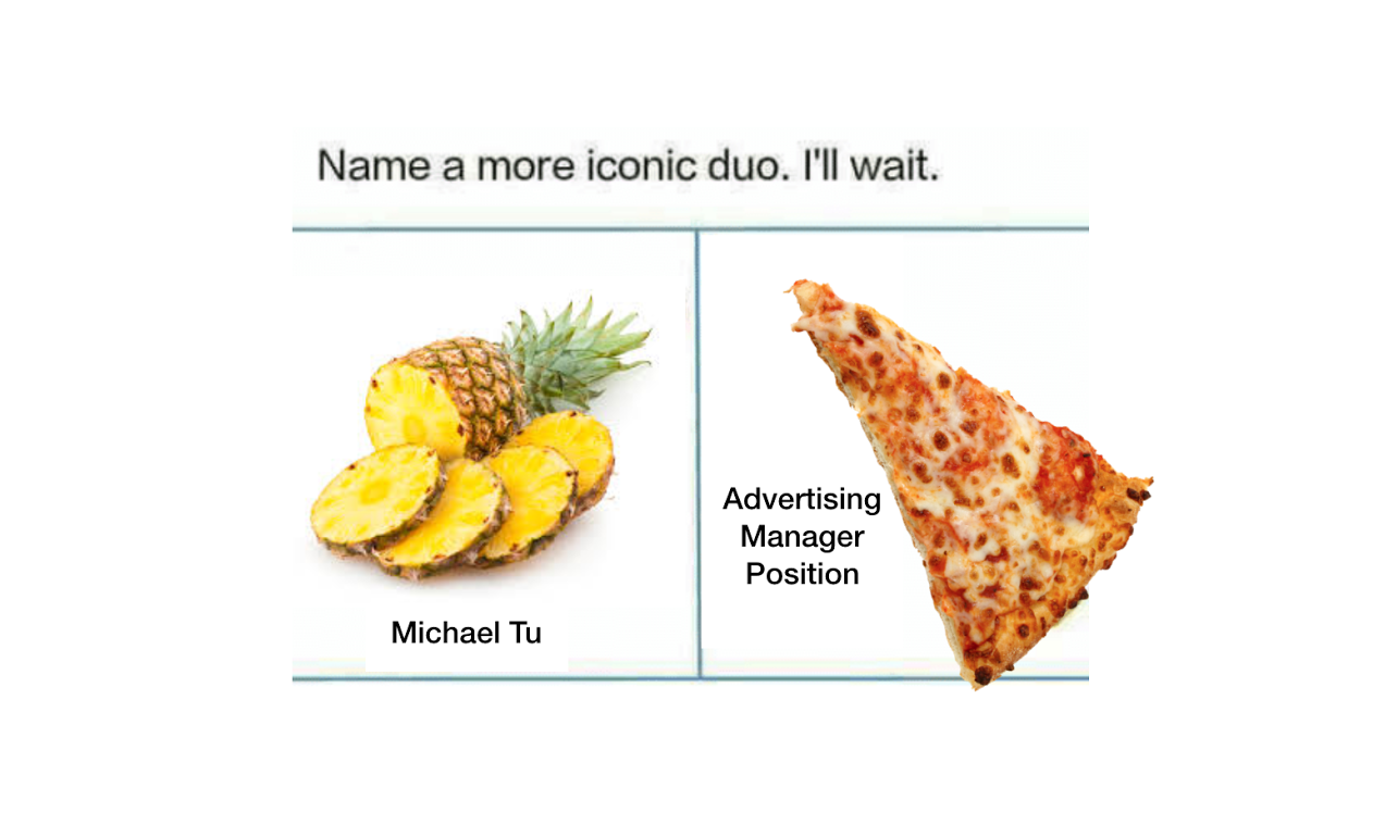 Tu took a more humorous approach with his campaign by recreating popular memes.