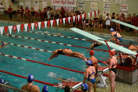 Gallery: Girls swim and dive senior night 2017