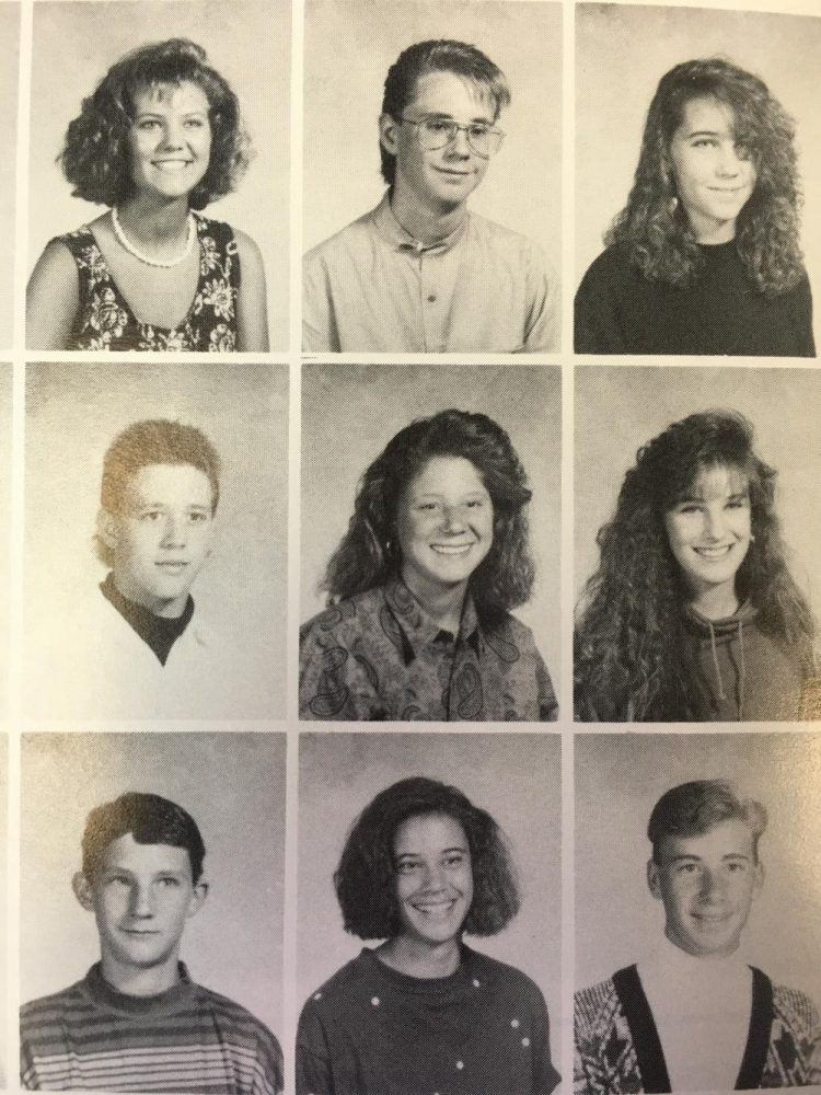 A page from one of Central's yearbooks from the 1980s. It includes one of the school's own staff members, Mrs. Phillip, Activities Director, in the bottom middle.