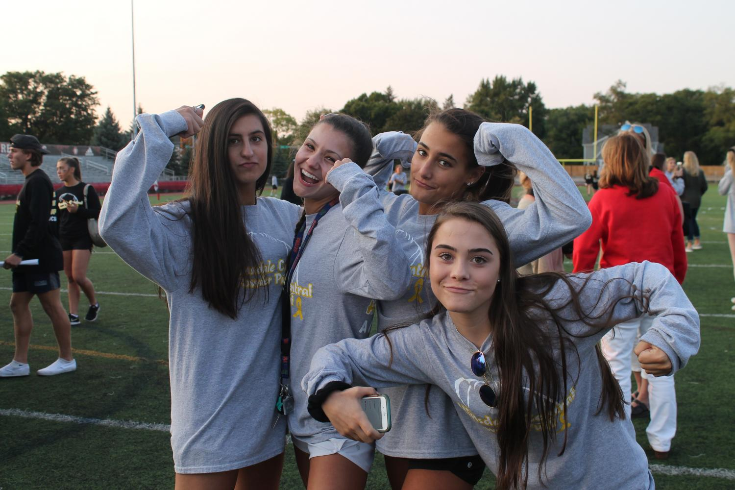 Although the seniors defeated the juniors, the class of 2019 was in high spirits throughout the game.