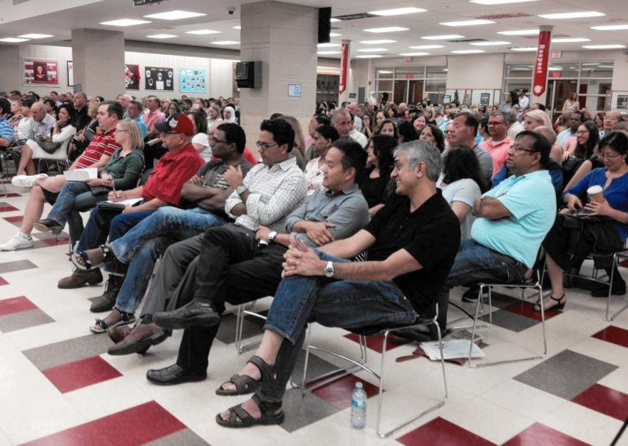 Meeting attendees displayed a variety of emotions about the buffer zone situation, which was a topic of concern at the board meeting on Sept. 12.