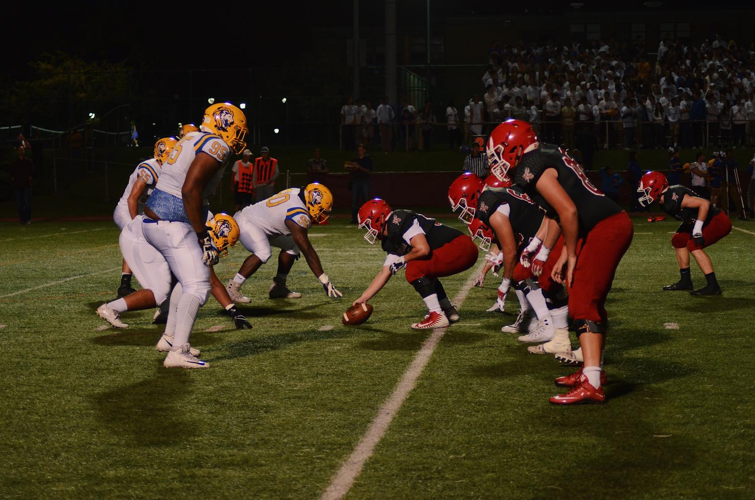 Central's latest hype video, the students' fierce school spirit, and the historic rivalry with Lyons Township all ensured that the game on Friday, Oct. 13 would be the most intense of the year.