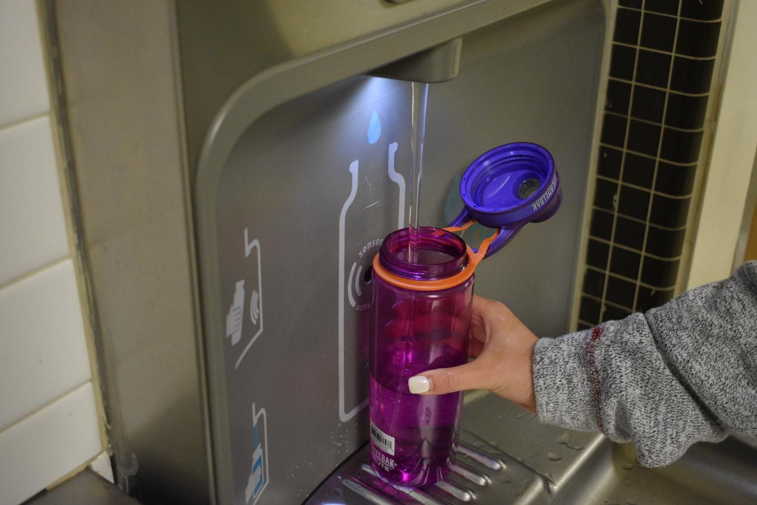 Many students accepted the dare for this week and spread kindness through the school by filling up a friend's water bottle for them.